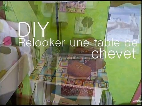Relooker une table de chevet decorate a bedside table youtube - Fabriquer table chevet ...