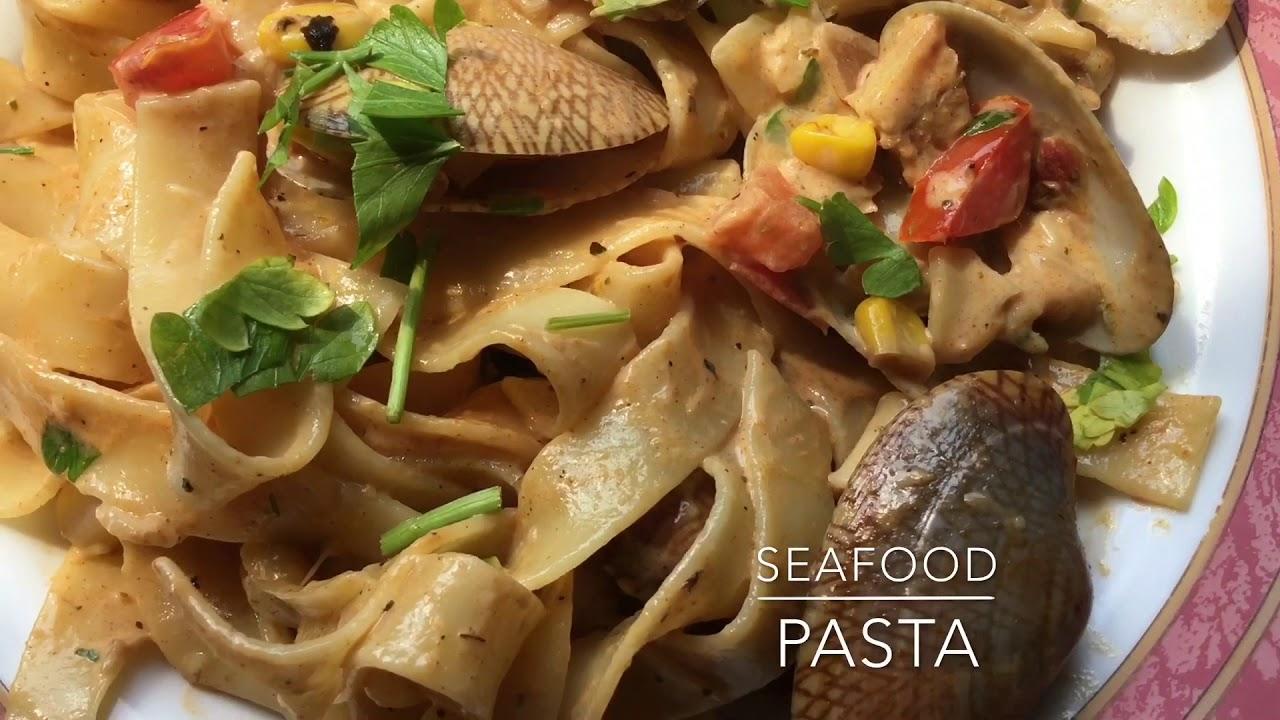 Delicious fresh Seafood pasta - YouTube