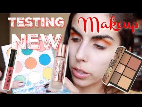 Trying New Makeup   Chit Chat GRWM    Mavie Cosmetics, Makeup Revolution, Smashbox   Katie Marie