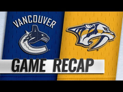 Sissons provides OT goal to lift Preds to 4-3 victory