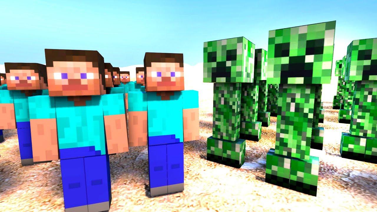 minecraft baby Manecraft real life Steve vs Creeper first