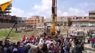 – بالفيديو ..الأثار المصرية تنتشل الجزء المتبقي من تمثال رمسيس الثاني بالقاهرة