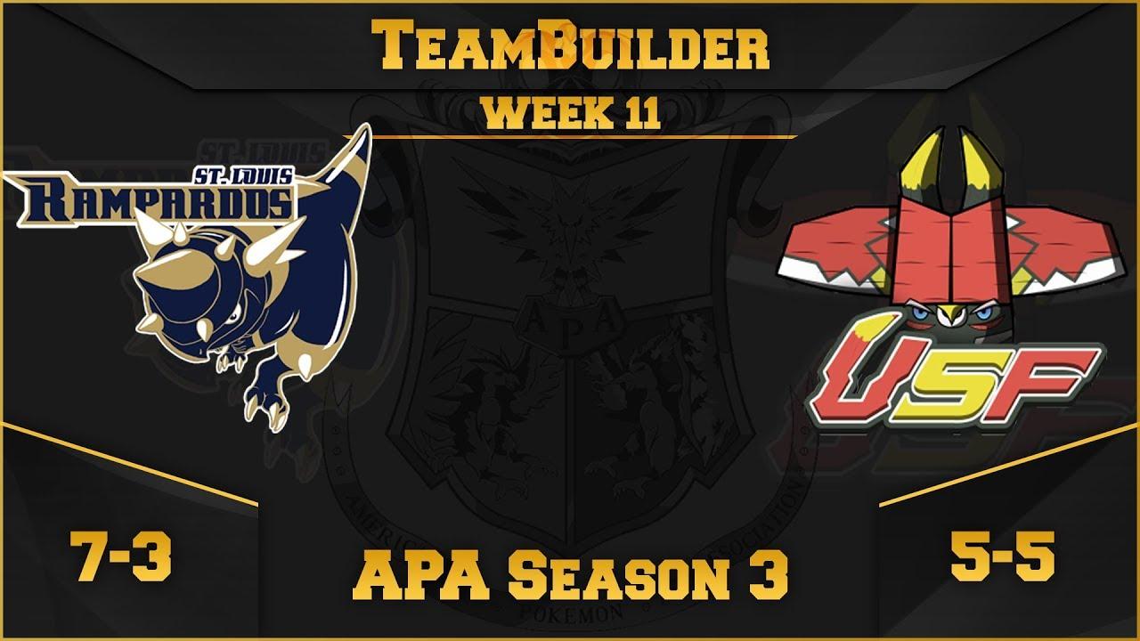 St. Louis Rampardos Team Building APA S3 W11: VS South Florida Bulus | Pokemon Ultra Sun and Moon