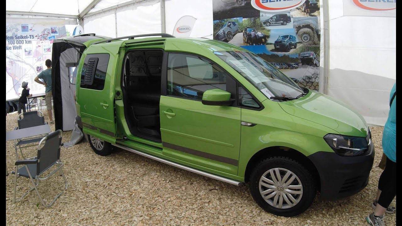 vw caddy maxi beach 4 motion camper green colour. Black Bedroom Furniture Sets. Home Design Ideas