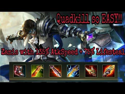 Zanis With Speed Build Arena Of Valor