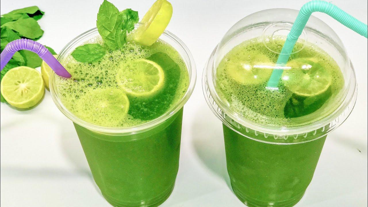 طريقة عمل مشروب الليمون بالنعناع المثلج مثل المحلات والكافيهات