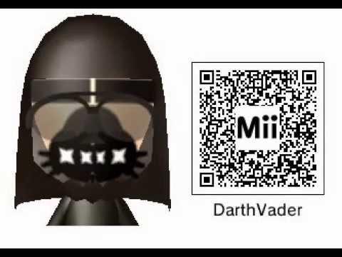 Mii maker darth vader from star wars free giveaway qr code