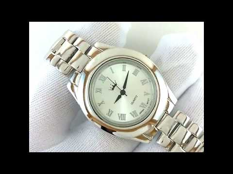 Classic 925 Sterling Silver Men's Jewelry Wrist Watch