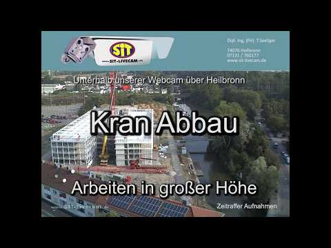 Video Kran Abbau am Sience-Center Parkhaus