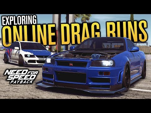 DRAG RUNS & EXPLORING FREEROAM!   Need for Speed Payback Multiplayer