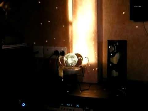 Новогодний зеркальный шар с мотором