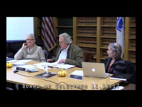 Board of Selectmen 11.13.17