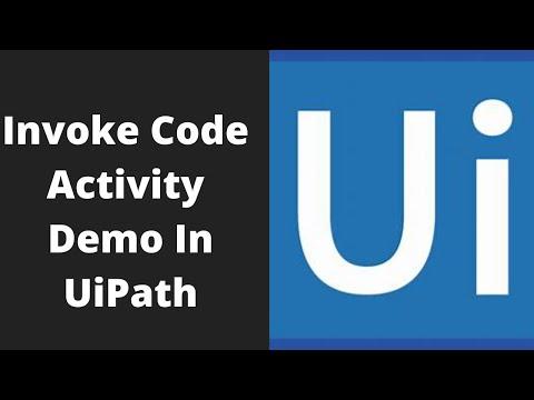 UiPath Tutorial For Beginner - Invoke Code Activity - YouTube