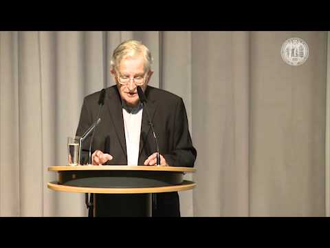 University of Cologne: Noam Chomsky: 1. Lecture