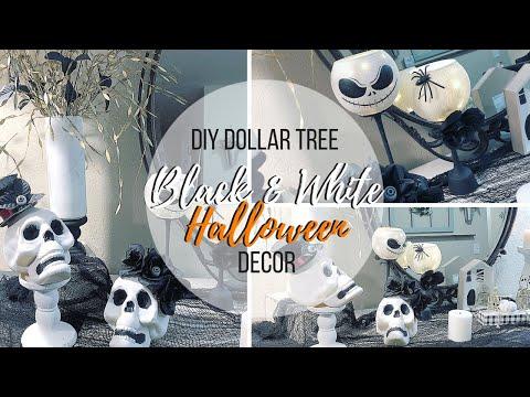 DIY DOLLAR TREE BLACK & WHITE HALLOWEEN DECOR