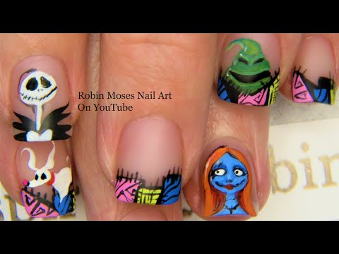 Nightmare Before Christmas Nail Art Design Tutorial | Halloween Nails thumbnail