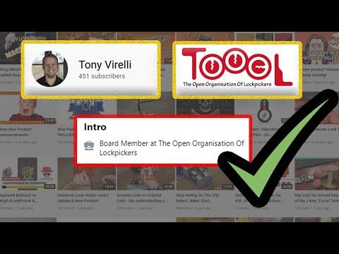 [490] Lock Sport Update || Tony Virelli TOOOL's Newest Board Member!