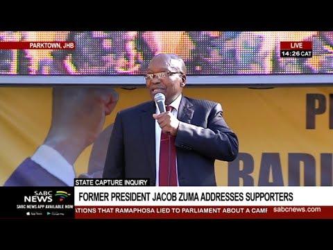 [LIVE] Jacob Zuma addresses supporters outside State Capture venue