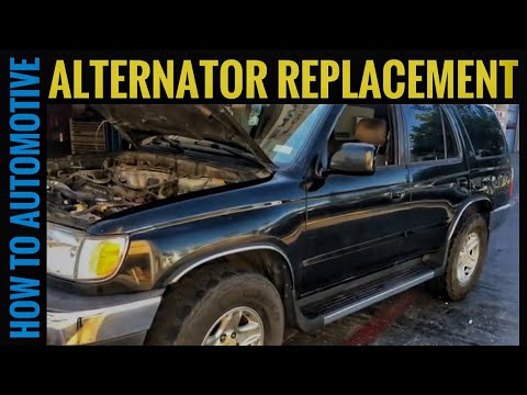 How to Replace the Alternator on a 1995-2002 Toyota 4Runner SR5 3.4 L Engine