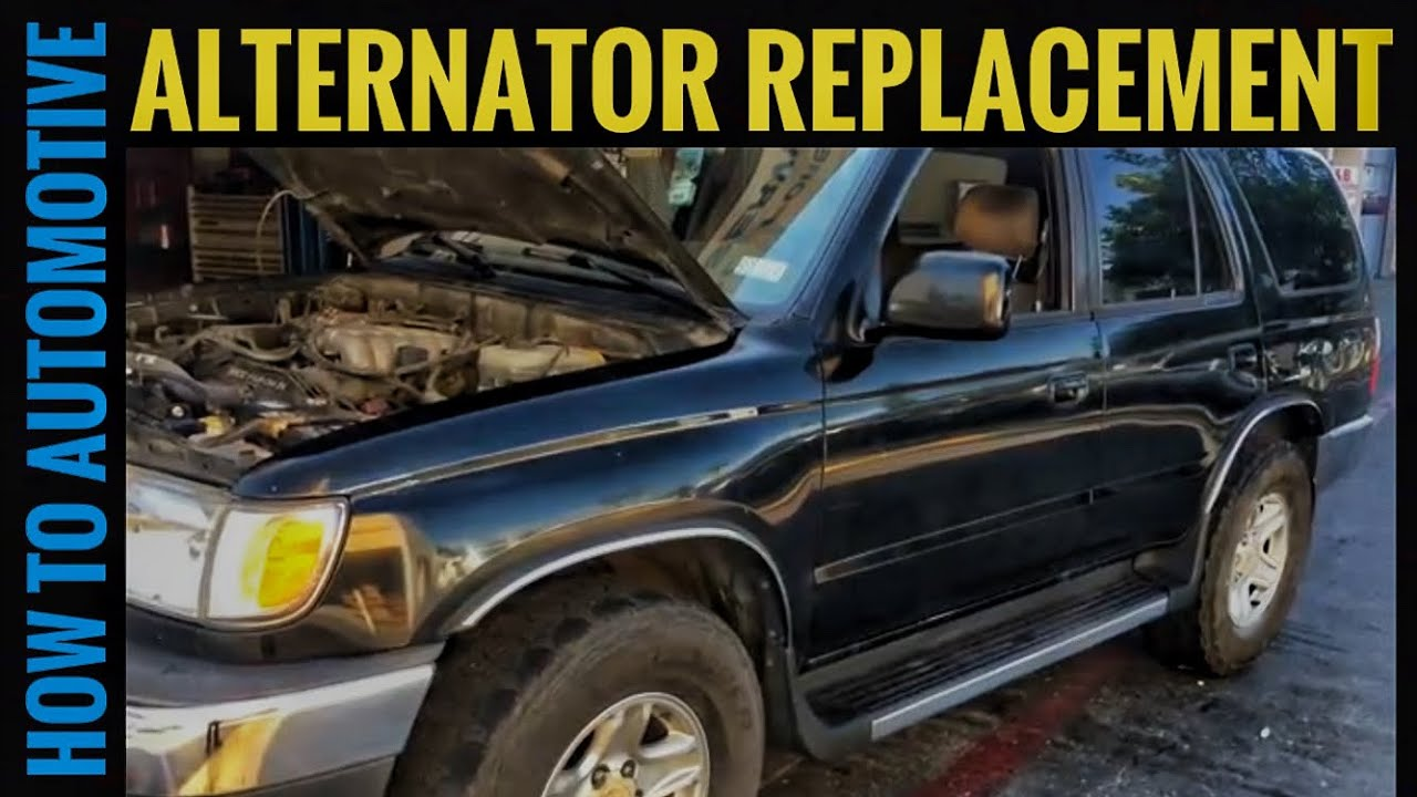 hight resolution of how to replace the alternator on a 1995 2002 toyota 4runner sr5 3 4 1995 toyota t100 3 4l engine diagram