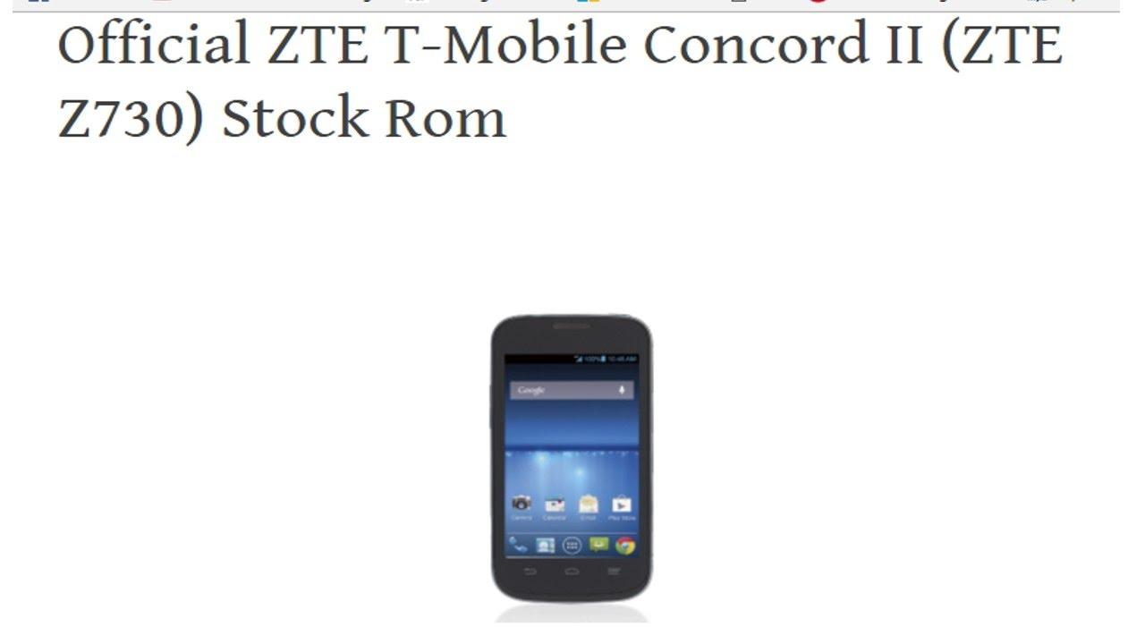 Revivir ZTE Z730 (ZTE T-Mobile Concord II )