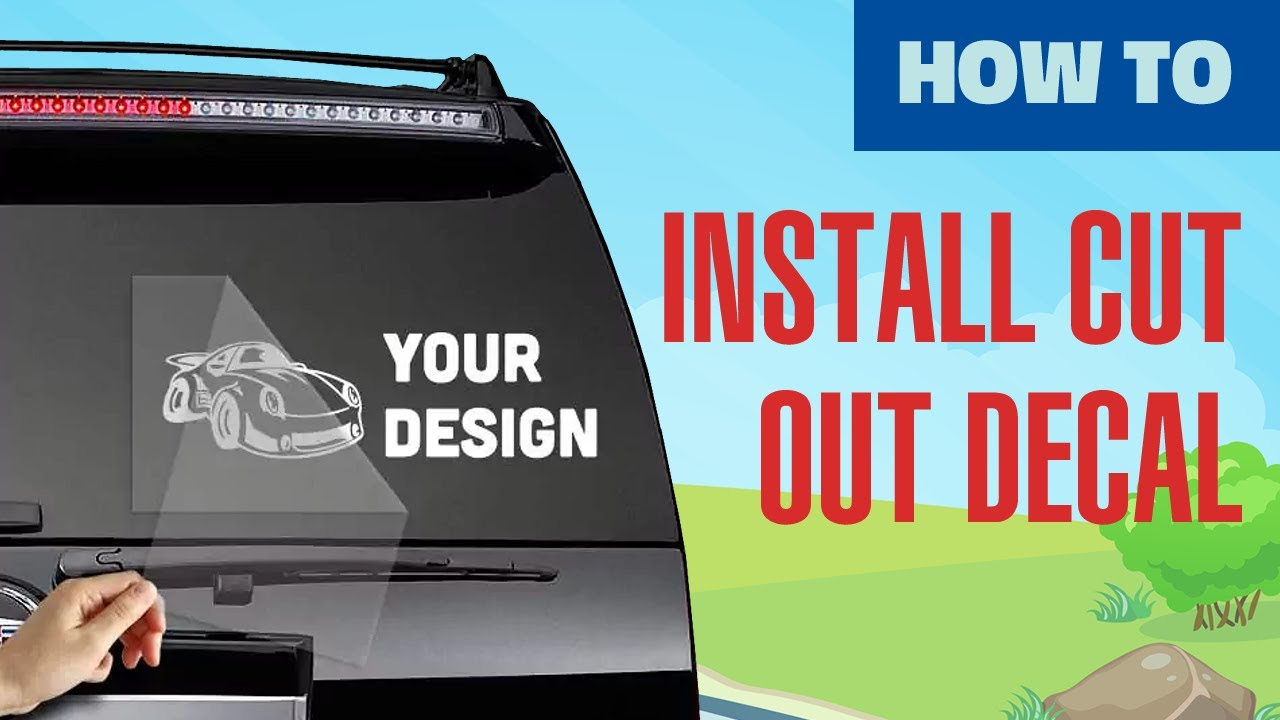 Installing A Cut Out Decal With Car Stickers YouTube - How to install custom die cut vinyl stickers