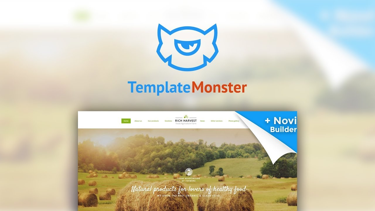 Rich Harvest - Agriculture Farm Responsive Multipage Website ...