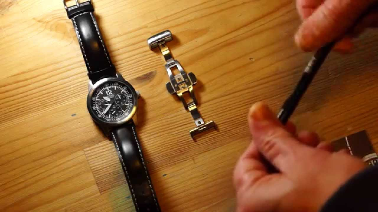 0a4acf9f72f GAVOX   How to install a folding Clasp (deployment buckle) for your watch.  Here with a Gavox P-40 - YouTube