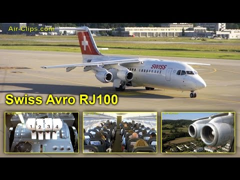 Swiss Avro RJ100 Business Class - AMAZING views, incl. Cockpit! [AirClips full flight series]