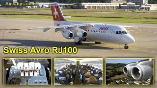 swiss avro rj100 business class amazing views incl cockpit airclips full flight series