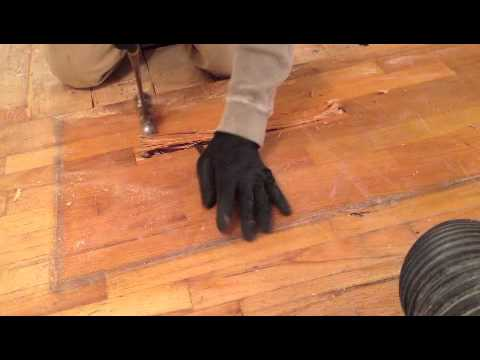 Hardwood Repair How To Remove One Board From The Middle Of The Floor
