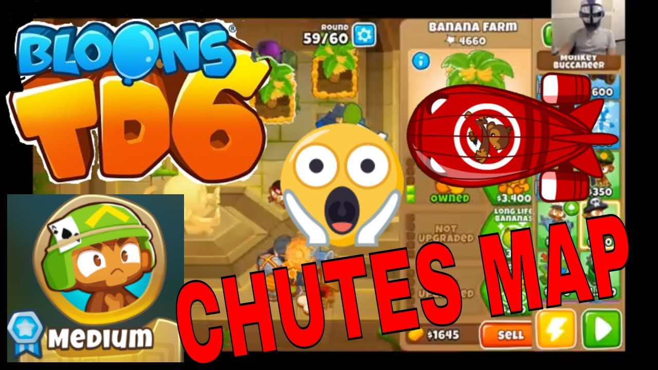 BLOONS TD 6 CHUTES MAP on MEDIUM  BTD6 GAMEPLAY WALKTHROUGH