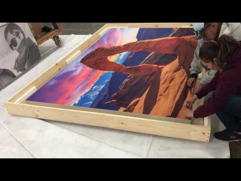 PROLAB Digital Fabric Wall Frame graphic installation Arches National Park