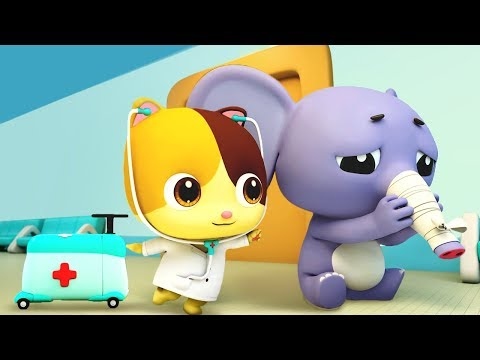 Baby Elephant Got Sick | Doctor Cartoon | Sick Song | Nursery Rhymes | Kids Cartoon | BabyBus