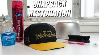 How to Restore Vintage Snapbacks, EASIEST WAY!! A Quick Thrift Fix!