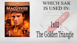 MacGyver - Qué navaja usa en El triángulo dorado? Which sak is used in 002 ?