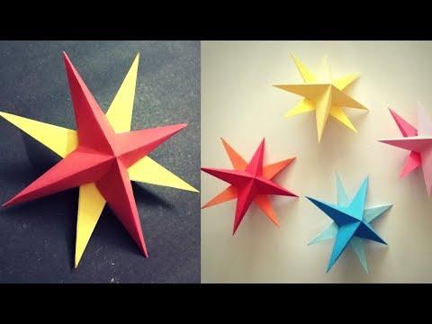 Easy Paper Christmas Star 3D | DIY Christmas Decoration