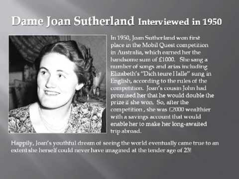 Joan Sutherland Interviewed in 1950