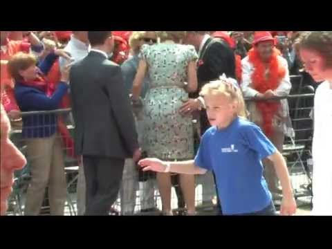 Queen Máxima has her butt grabbed by Fred de Graaf during Koningsdag 2014