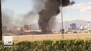 Plane Catches Fire at Las Vegas Airport | Mashable News