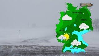 Im Südosten teils heftiger Schneefall (08.01.2019)