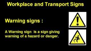 English Words - UK Standard Safety Signs part 2 Warning signs
