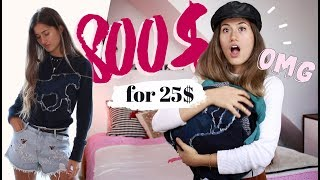 I Thrifted 800$ Of Clothes For 25$! #haulternative