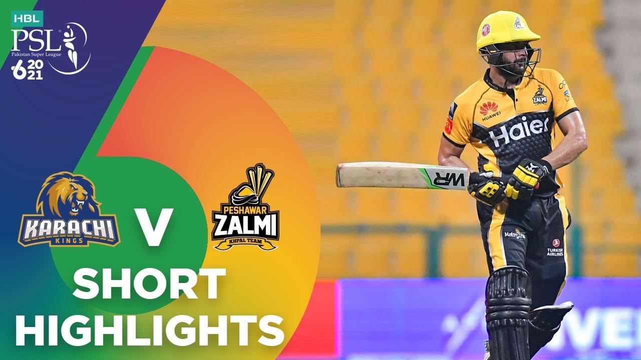 Download Short Highlights | Karachi Kings vs Peshawar Zalmi | Match 32 | HBL PSL 6 | MG2T