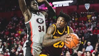 Highlights: No. 20 Arizona State men's basketball storms back for two-point win at Georgia