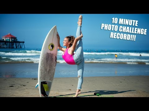 I BROKE A RECORD!!! (10 minute photo challenge with Jordan Matter)