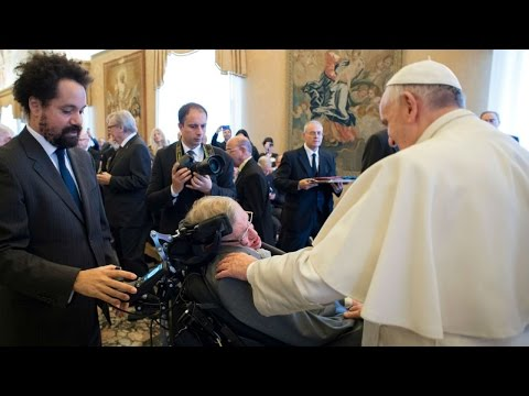 Pope Francis and Stephen Hawking meet at the Vatican HD