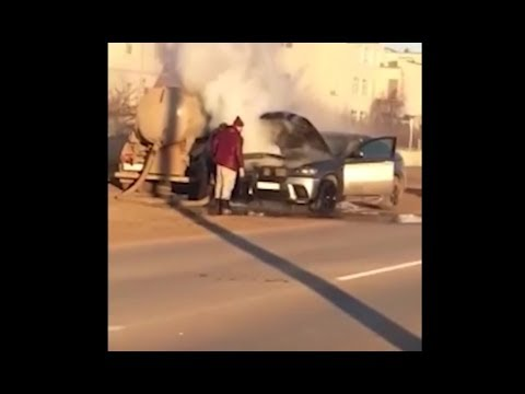 BMW X6 потушили говном/BMW X6 Put Out By Shit