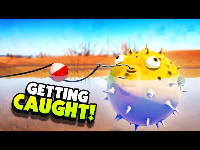 A FISHERMAN Caught My PUFFER FISH! - New I Am Fish Gameplay
