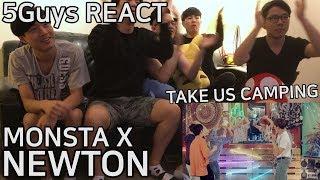 [ROADTRIP PLZ] MONSTA X (몬스타엑스) - NEWTON (5Guys MV REACT)